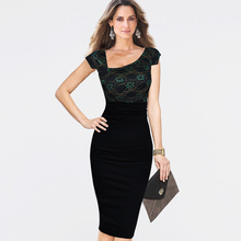 Vfemage Womens Asymmetrical Neckline Celebrity Elegant Ruched Cap Sleeve High Waist Wear to Work Office Sheath Pencil Dress 1856