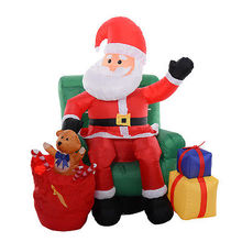 1.5M Inflatable Christmas Santa Teddy Bear Presents Christmas Tree Yard Art Decorations Scene Layout