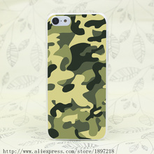 3301T Military Camouflage Green Hard Transparent Cover Case for iphone 4 4s 5 5s 5C SE 6 6s Clear Cell Phone Cases
