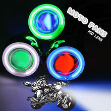 Hot sales! HID Xenon projector lens for motorcycle bulb,shroud,Green Angel eye Blue Devil eye hid motocycle projector