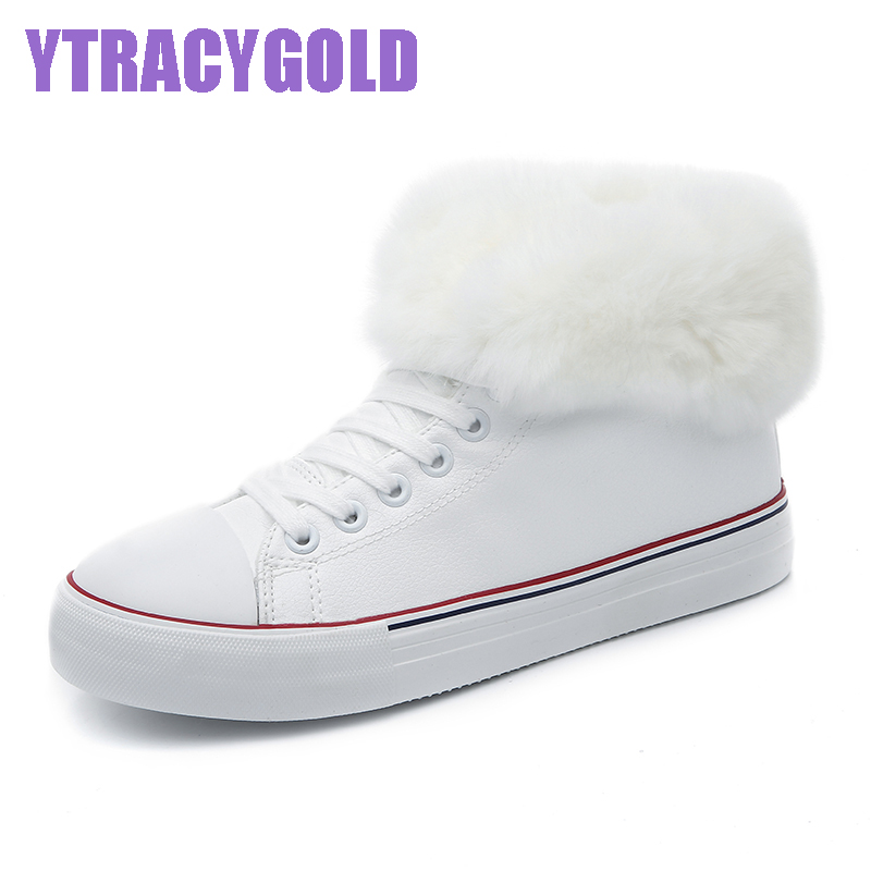 YtracyGold 2017 Warm Flur Winter Shoes Women Flat Heel Boots Fashion Womens Boots Brand Woman Ankle Boots Hard Outsole Shoes<br>