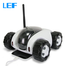 LEF Wireless WiFi RC Monitor Car Moving Robot IP Camera Smart Phone Remote Control Wireless Charging