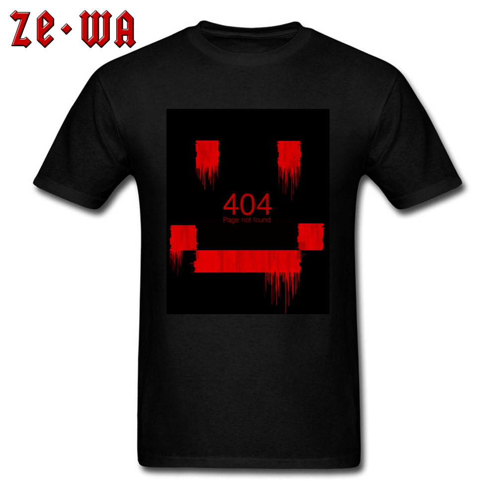 Men Top T-shirts An Error Has Occurred Normal Tops & Tees 100% Cotton Round Neck Short Sleeve Normal Tops Shirt Summer/Autumn An Error Has Occurred black
