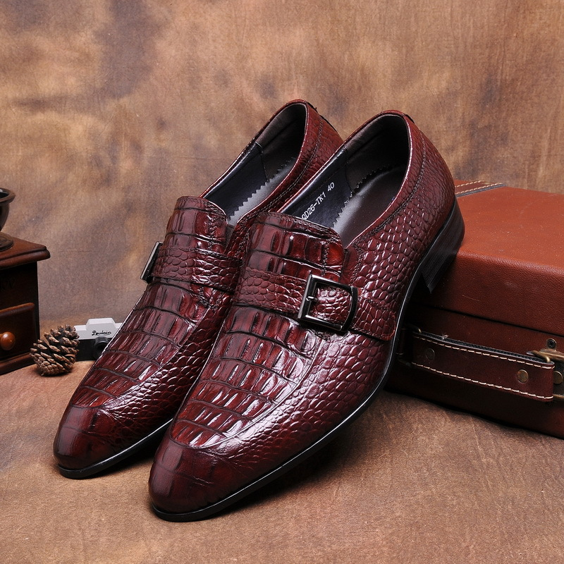 Fashion Brand Luxury Mens Dress Shoes Genuine Leather Comfortable Buckle Pointed Toe Men Shoes Flats for Business Work Wedding<br><br>Aliexpress