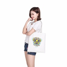 customized patent handbag pleated unisex custom canvas bag pillow shopping bag tote(China)