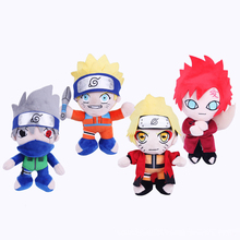 1PC 25cm Cute Japanese Anime Cartoon Naruto Gaara Plush Toys Soft Stuffed Toys Plush Dolls Figure Toy for Kids Gifts(China)