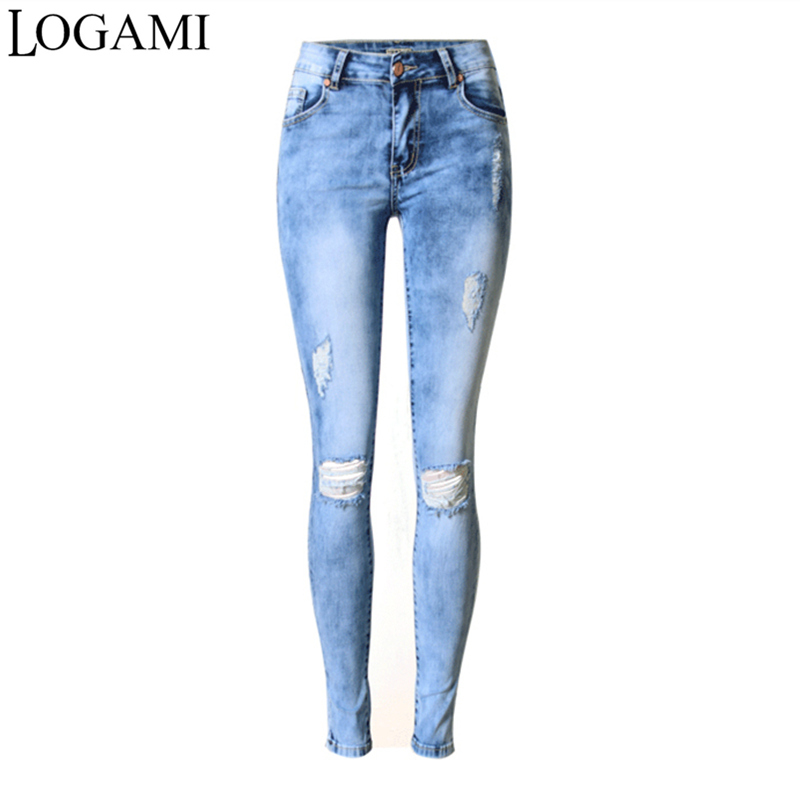 Jeans Woman Skinny Jeans Woman Ripped 2017 Ladies Slim Jeans Elastic American Apparel Jeans Femme BlueОдежда и ак�е��уары<br><br><br>Aliexpress