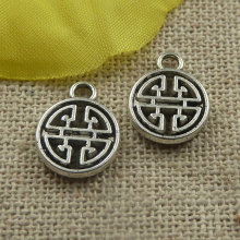 360 pieces tibetan silver nice charms 13x10x2mm #4414