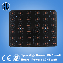 free shipping 1pce 12W 18W 20W 24W 30W 36W 48W Rectangle LED Aluminum Plate/ High Power LED Circuit Board / Heat Plate PCB