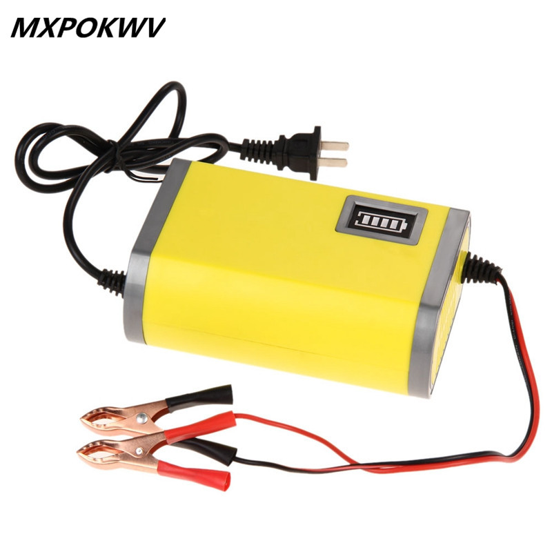 MXPOKWV Auto charger 12V 6A lead acid charger smart led car battery charger 12v 6a motorcycle charger power supply 12v 220v(China (Mainland))