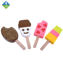 4Pcs/lot Kids Kitchen Toys Ice Cream Kitchen Food Toys Children Wooden Toys Play House Gift Toys for Preschool Girl Boy(China)