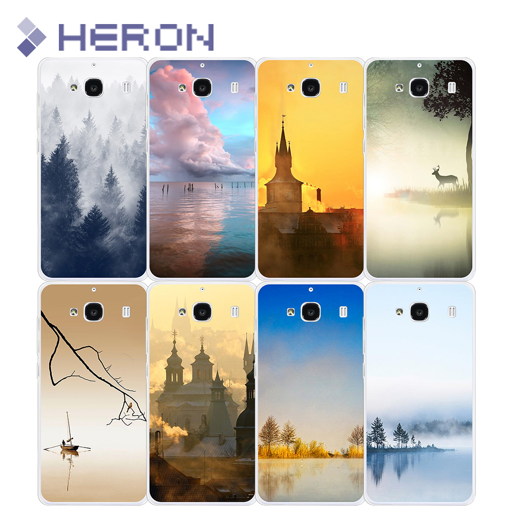 Transparent Case for xiaomi Redmi 2 3 4A with Beautiful scenery Pattern Soft TPU Super Thin Back Cover for note2 note4 pro(China (Mainland))