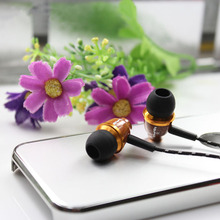 Awei Wooden Earphone 3.5mm In-ear Style fone de ouvido Earphones Nice Gift auriculares cuffia for MP3 MP4 Players Music Headset(China)