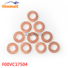 F00VC17504 Common Rail Injector Copper Rings Washers Shims Gasket Set F00V C17 504 Size 7.7X15.1X2.1(mm) Thickness 2.1mm(China)