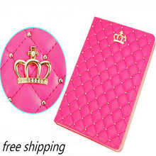 For Ipad Mini 1mini 2 mini 3 Crown Diamond Leather Case For Ipad Luxury Soft Leather Stand Smart Tablet Cover For Ipad Mini cose(China)