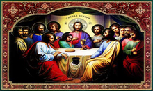 Free shipping gobelin tapestries,classical religion style decorative pictures, Reproduction of antique oil painting,Last Supper(China)