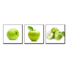 3 Pcs/Set Discount Framed Painting Still Life Canvas Print Green Apples Modern Wall Paintings Wall Art Top Home Decoration(China)