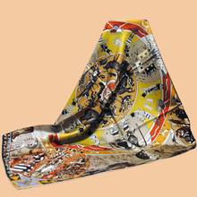 "Huajun || Starting new color brand scarf ""Mythologies des hommes"" 90 silk scarf 100% mulberry silk twill silk scarf printing sha"