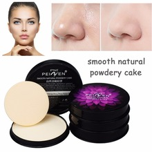 1pcs Natural  Moisturizing Smooth Foundation Pressed Powder Makeup Concealer Pores Cover Face Whitening Brighten Powder