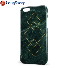 Green Geometric Composition Marble Design Full Print IMD Slim Shockproof Case Cover for iPhone 6 6s Plus