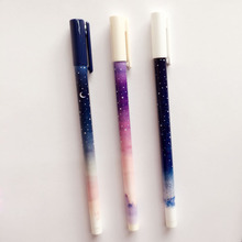 Buy I47 3X Fantastic Galaxy Star Sky Long Handle Gel Pen Writing Signing Pen School Office Supply Student Stationery Kids Rewarding for $1.19 in AliExpress store
