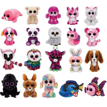 "Pyoopeo Ty Beanie Boos Plush 6"" 15cm Goat Cow Dragon Leopard Giraffe Dog Cat Rabbit Bird Unicorn Collectible Soft Doll Toy(China)"