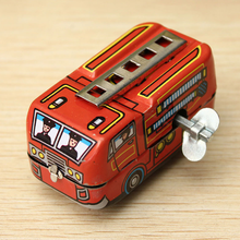 1 Pcs New Toy Vehicles Retro Toys High Quality Firefighter Fire Engine Truck Clockwork Wind Up Superb Tin toy Fire Truck(China)