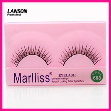 Human Hair Eyelash Extesion False Eyelash 1 Pairs/lot Eyelash Natural Design(China)