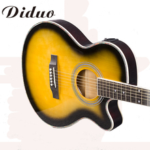 40 Inch 4 EQ Electric Acoustic Guitar Picea Asperata Panel Sapele Wood Guitarra With Guitar Pickup Tuner 6 Strings Guitars
