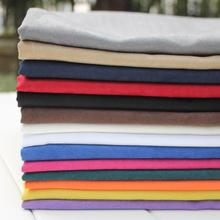 50x145cm Fake Suede Fabric Soft Polyester Faux Suede Cloth Black White Blue Pink Red Textile Cheap Fabric Tissus Bazin Material(China)