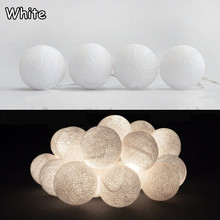 New design pure white cotton ball string lights , Fairy lights,Wedding,party,Patio,xmas Decor AC plug power(China)