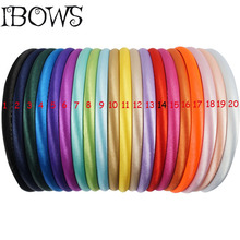 5Pcs/lot Handmade Satin Covered Resin Hairbands For Girls Solid Hair Band DIY Headband Children Kids Head Hoop