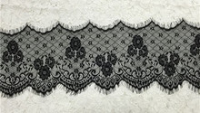 17cm Wide French eyelash lace fabric Chantilly lace fabric trimming design accessories lace trim 3meter/lot