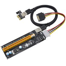 Buy NOTAYO 100CM PCI Express 1x 16x Riser Card Adapter PCI-E Extender +15Pin Sata 4Pin IDE Molex Power Supply / USB 3.0 Cable for $3.59 in AliExpress store