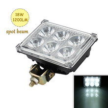 "Professional 5"" 12V-85V 18W 1200LM Square LED Work Lamp Light Spot Beam for Car SUV ATV Truck Tractor Boat(China)"