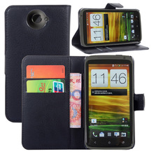 SZYHOME Phone Cases For HTC One X Luxury Retro Leather Wallet Flip Cover Case Solid Color Shell Capa Coque(China)
