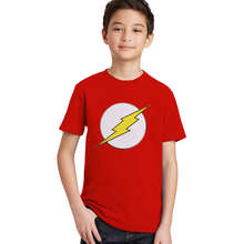 the flash kids t shirts children boys girls flash man logo t-shirt cartoon character tops for boy summer clothing toddler tshirt