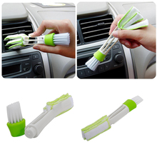 1 Pcs New Double Ended Car Vent Brush Computer Keyboard Mini Dust Cleaner Window Air Con Brush Dust Cleaner(China)
