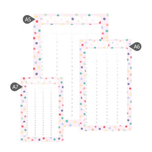 2017 Dokibook A5 A6 A7 Kawaii planner refill paper notebooks pages diary fillers DIY multicolor dots - Derek's Stationery Shop store