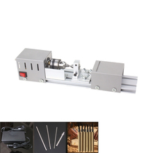 Mini Lathe Table Saw Polisher With Carving Tool Cutting Polishing Drilling Machine For Wood Soft Metal Plastic Woodworking(China)