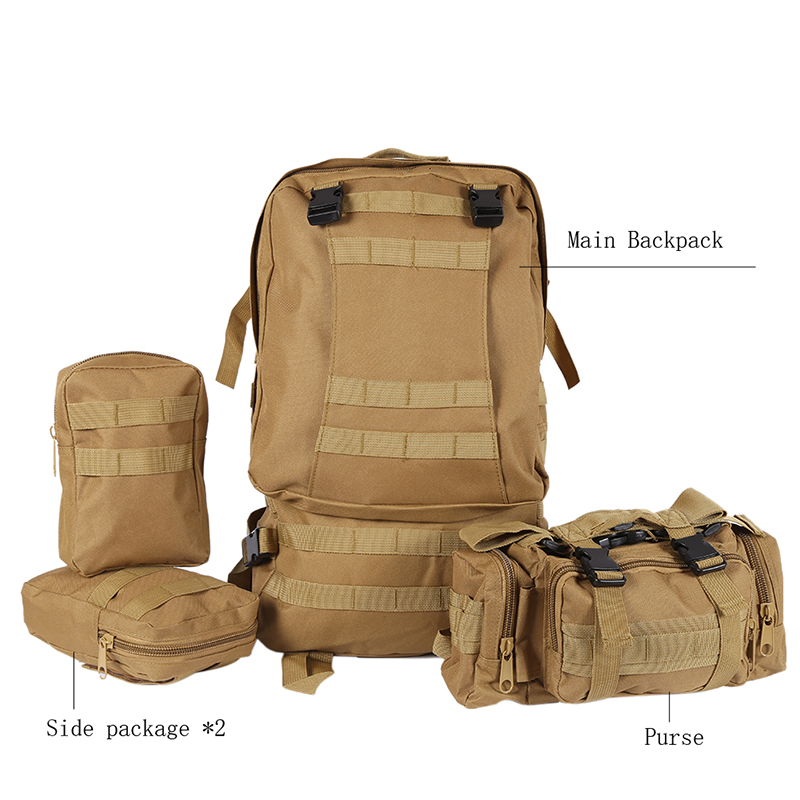 Molle 3D Waterproof Nylon Assault Army Military Tactical Rucksacks Outdoor Backpack Travel Camping Hiking Bags 50L <br><br>Aliexpress