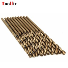 10 pcs/set  1/1.5/2/2.5/3mm HSS-CO High Speed Steel M35 Cobalt Twist Drill Bit Steel Metal Drilling Rotary Power Tools Stes
