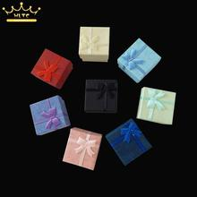 Free Shipping 5 pcs Mixed Colors Best  Price Silver Jewelry Rings Paper Boxes Gift Package Ring Box Wholesale