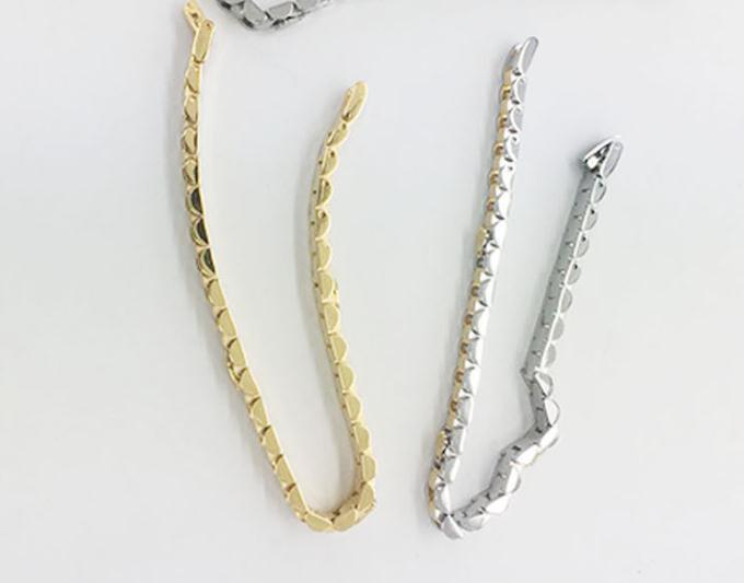 Fashion Gold President Strap Crown Bracelet Hiphop Watchband Adjustable Speedometer Bracelet Br-02