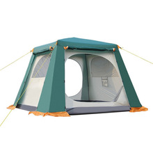 Outdoor Fully Automatic Tent Rainproof Tent Double Layer Camping Hiking Fishing Backpacking Tent For 3-6 Persons barraca tenda(China)