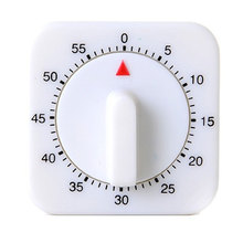 White Kitchen Square 60 Minute Mechanical Timer Reminder Counting New product Sales promotion