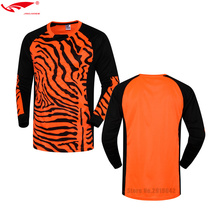 Tops Soccer Goalkeeper Clothing kids boys Soccer Jersey Kids Football Goalkeeper Training Doorkeepers Long Sleeve For Children(China)