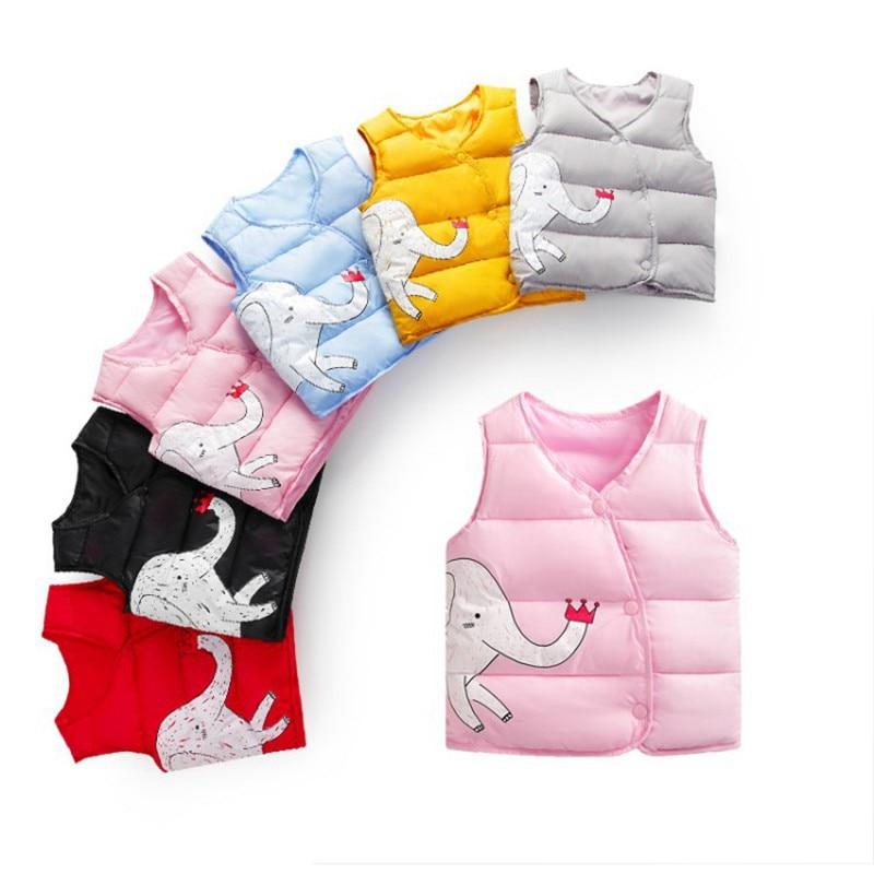 CROAL CHERIE Cotton Baby Girls Boys Winter Vest For Kids 2018 Kawaii Elephant Printing Waistcoat Children Boys Clothes 80-130cm (12)