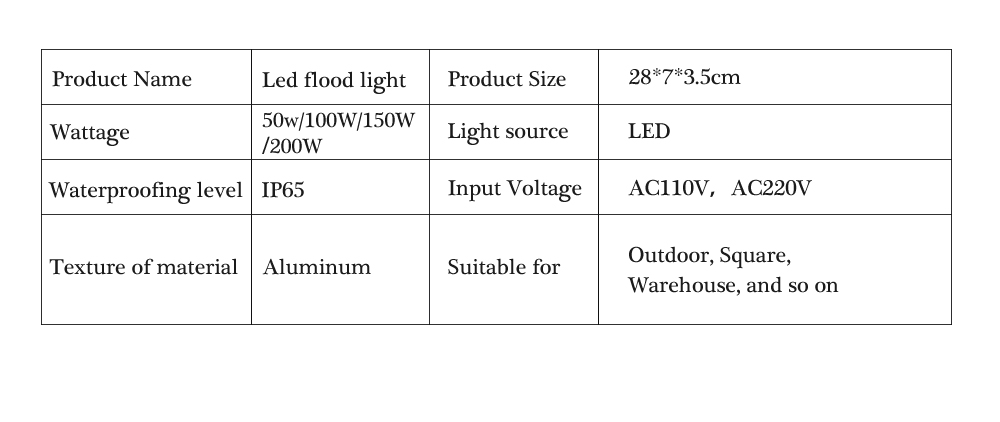 Led Outdoor light 50W