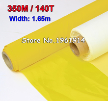 free shipping 3 meters width 1.65 meter DPP 350mesh count(140T) fabric , screen printing material,screen mesh white color